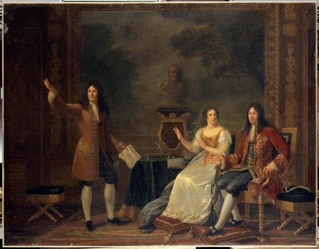 Racine lisant Athalie devant Louis XIV et madame de Maintenon