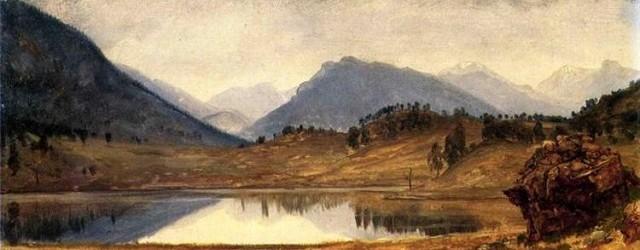 Wind River Country Albert Bierstadt