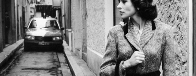 Fanny Ardant sur le tournage de La Femme d'à côté