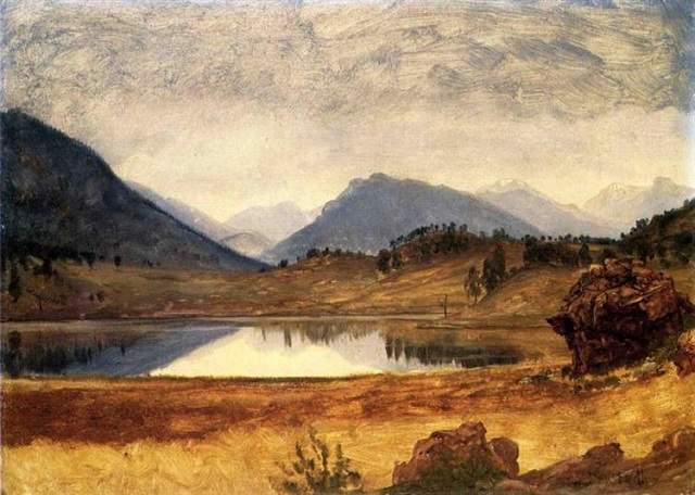 Wind River Country Albert Bierstadt